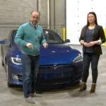 Oil in a Tesla
